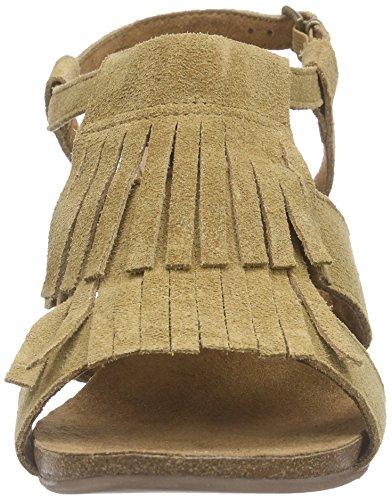 Caprice - 28321, Scarpe col tacco con cinturino a T Donna Marrone (Braun (COGNAC SUEDE 381))