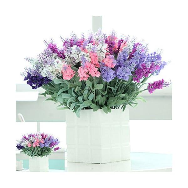 Homeofying – Ramo de 10 flores de lavanda artificial, seda sintética