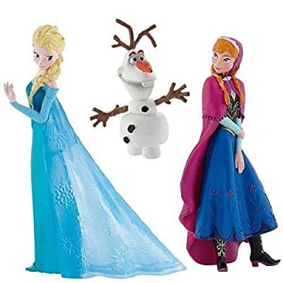 Official Disney's Frozen Set of 3 Figures, Anna, Elsa and Olaf by Disneys Frozen de Bullyland