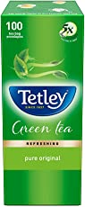 Tetley Green Tea, Regular, 100 Tea Bags