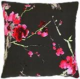 Apelt Hanami_45x45_89 Kissen gefüllt, anthrazit mit Kirschblüten