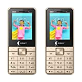 SSKY Combo of Two S-900 Power, 2.4 Inch Dual Sim Mobile Phone with Powerful 3000 mAh Battery & 2MP Camera (Gold - Gold)