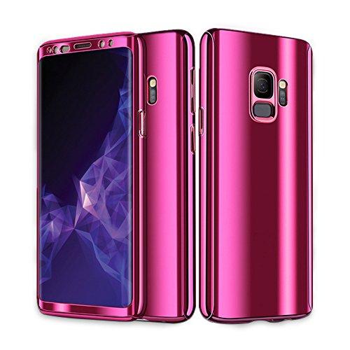 Samsung Galaxy S9 / S9 Plus Hülle , Pacyer ® Business Serie Hart Case Spiegelnd Cover Kratzfeste Hard Prämie PC Bumper Anti-Scratch Handyhülle Schutzhülle (Rosa 1, Galaxy S9 5.8'')