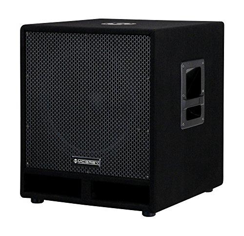 """McGrey PAS-115 15"""" passiver DJ PA Subwoofer (Bass Box, 300/600/1200 Watt RMS/Musikleistung/Peak, Bassreflex-Kanäle, 15"""" Woofer, SPK-Anschlüsse) schwarz"""