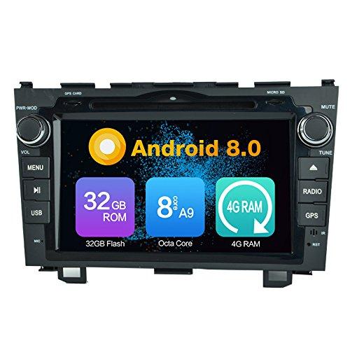 Octa Core 4G RAM Android 8.0 Auto DVD GPS Navigation lecteur multimédia stéréo de voiture Autoradio pour Honda CR-V 2006 2007 2008 2009 2010 2011 radio Commande au volant WiFi Bluetooth 8g SD Carte