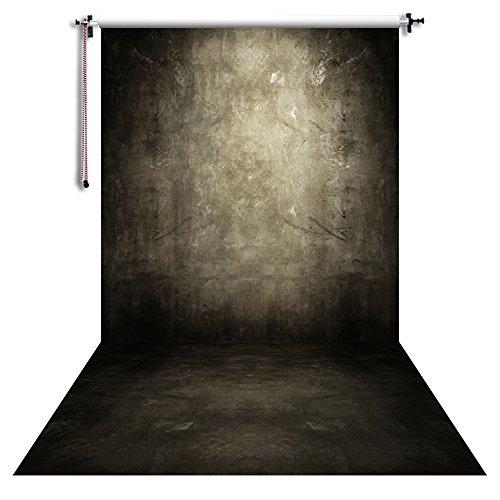 NIVIUS PHOTO 150x300cm Hochzeit Hintergrund Fotografie Hintergrund Portrait Fotos Requisiten Video Live Home Wanddekorationen Schwarze Betonmauer XT-5115
