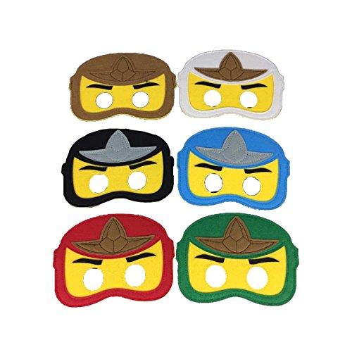 Ninjago Super Soft Fancy Dress Filz Masken X6 -