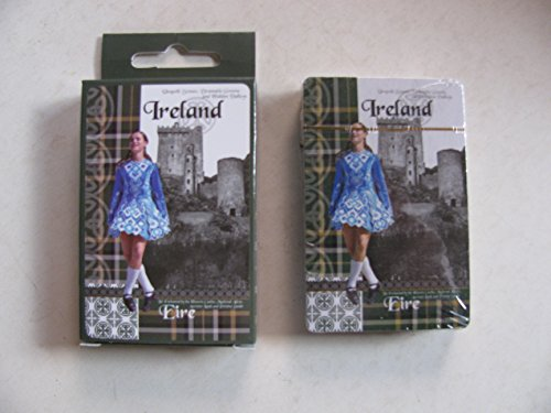 Playing Cards Ireland Eire Irish Dancing Dancer Costume Competition Feis Castle in Background Pack Deck Games