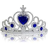 Princesas Disney - Diadema de princesa para niña, color azul oscuro / plateado, 3-11 años  (Katara 1682)