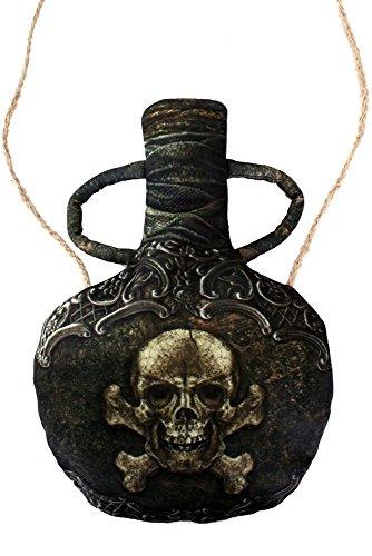 Kostüme Pirat Dame (Kleine Umhängetasche Flasche für Pirat oder Piratin Handtasche Tasche)