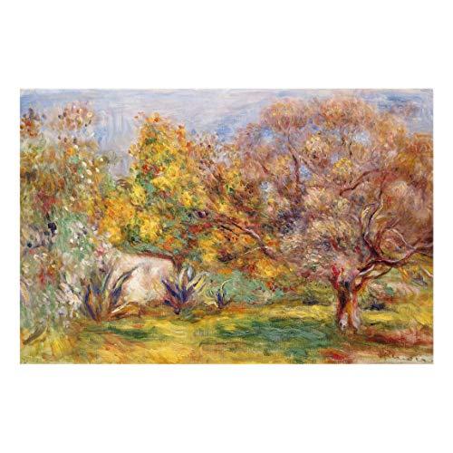 Bilderwelten Spritzschutz Glas Wandglas - Auguste Renoir - Garten mit Olivenbäumen 59 x 90cm