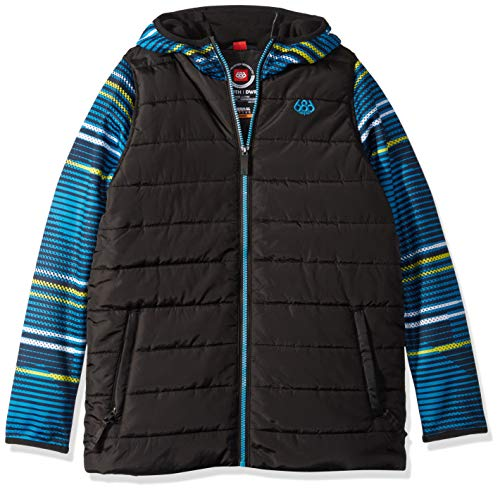 686 Jungen Boys Heater Insl JKT Fleece-Oberbekleidung-Jacken, Bluebird Stripes, X-Large - 686 Outerwear