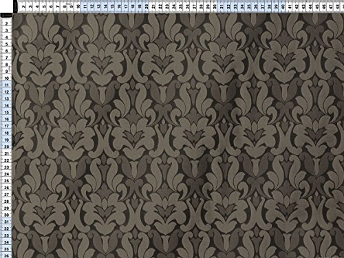 Tessuto da tappezzeria, rivestimento in tessuto, tessuto da tappezzeria, tessuto, tessuto della tenda, tessuto - Bernadette, grigio perla - nobile tessuto taffetà con motivi
