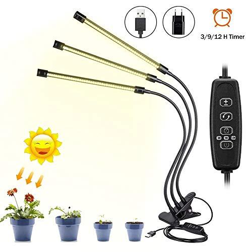 Calistouk Luz de crecimiento 30W LED Lámpara Bombillas Luces de planta espetro interior automático...