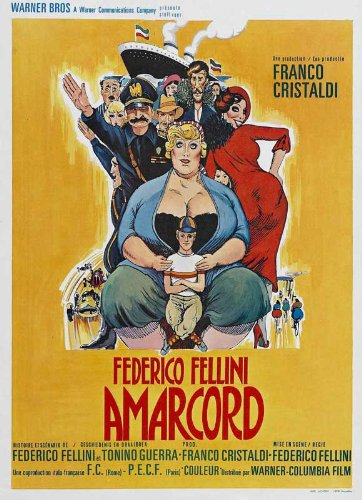 Amarcord Plakat Movie Poster (27 x 40 Inches - 69cm x 102cm) (1974) Belgian