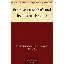 Freie wissenschaft und freie lehr. English