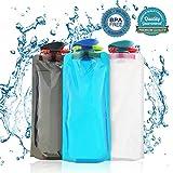 BESTZY 700ML Faltbare Wasserflaschen 3er-Set Trinkflasche Trinkrucksäcke, Flexible...