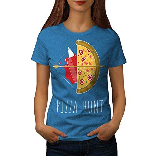Pizza Jagd Pfeil Heiß Essen Damen S-2XL T-shirt | Wellcoda Royal Blue