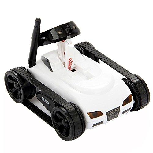 Preisvergleich Produktbild Mini Wireless Wifi RC Tank Car Spielzeug mit 0.3MP Kamera Videoaufzeichnung für iPod iPad iPhone 5 s 6 6 s Samsung Galaxy S6 S7 Steuerung weiß