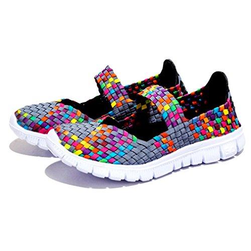 Bon Augure Début Flexible Tissu Confort Lumière Sport Sport Chaussures D'eau Pour Les Femmes Gris