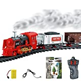 #9: Emob Classic Realistic Remote Control Smoke Train Set for Kids with Smoke Sounds Light