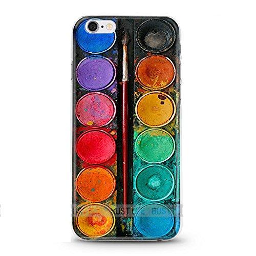 Handyhülle für Apple iPhone 5 / 5S ( Farbkasten ) - Hülle - Schutzhülle mit Motiv - TPU Silikon Hülle - Case - Cover - Schale - Backcover - Handytasche