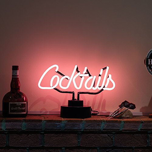 Cocktails Script Skulptur–Echter Neon (nicht LED)