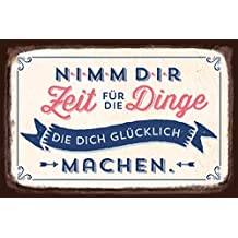 Grafik Werkstatt 60566 Wandschild   Vintage Art   Nimm Dir Zeit Für Die  Dinge.
