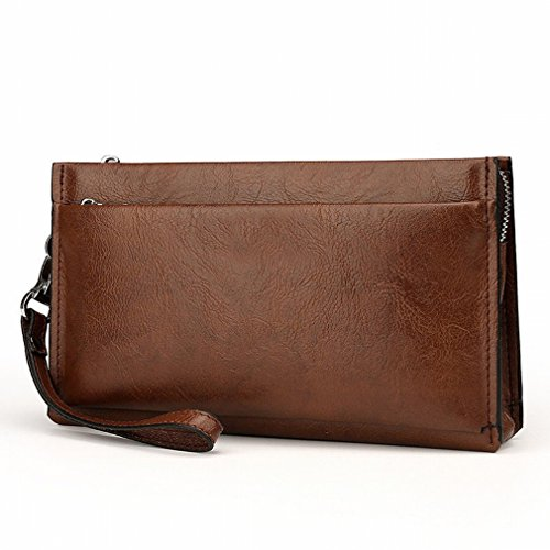 HTB Mode Klassische Männer 'S Handtasche mit Einem Großen Paket von Weichen Brieftasche Tasche Braun