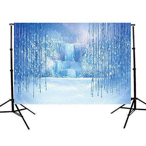 Fotohintergrund Fotografie Stoffhintergrund Stoff Hintergrund - Märchen Winter Eis Themen Kulisse Bildhintergrund Backdrops Foto Props - 2.1×1.5M
