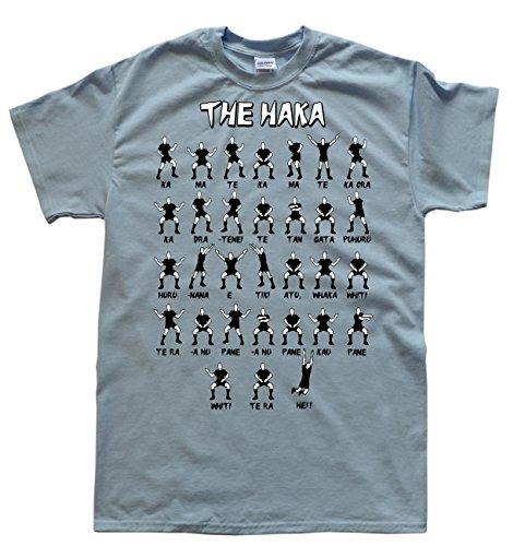 New Zealand Rugby Haka Bleu Clair T-Shirt, Taille 3XL par  JeKat