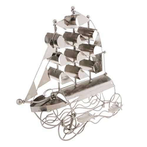 Segelboot-Form-Wein-Rack-Metall-Dekor-Bar Küche Halter-Speicher-Spirits