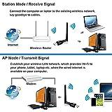 Wlan Stick Wifi Adapter Dongle 600mbps – NeKan Dual Band (5.8Ghz/433mbps+2.4Ghz 150mbps) 802.11b/g/n/a/ac Wireless USB WiFi Dongle für Windows XP/Vista/7/8/10 Linx2.6X MAC OS - 7