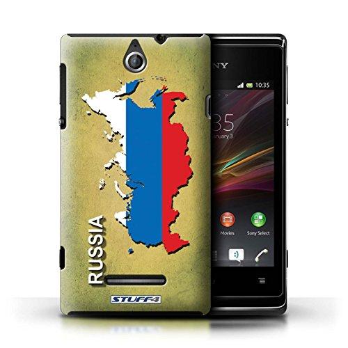 Kobalt® Imprimé Etui / Coque pour Sony Xperia E / Thaïlande/Thai conception / Série Drapeau Pays Russie/Russe