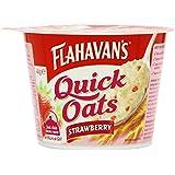 Flahavans Strawberry Quick Oats Pot 46 g (Pack of 12)