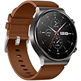 Dado Leather Replacement band special for Huawei GT2 PRO watch , 22 mm strap (Brown)