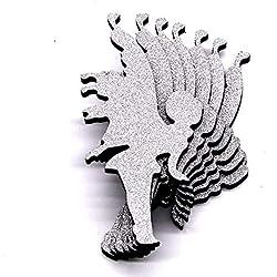 MTX Ltd Westlicher Art-kreativer Wand-Dekoration-3D Wand-Aufkleber - Engels-feenhaftes Form-PVC-Schaum-Brett-Material DIY Hintergrund-Wasserdichtes Wandbild, Silber