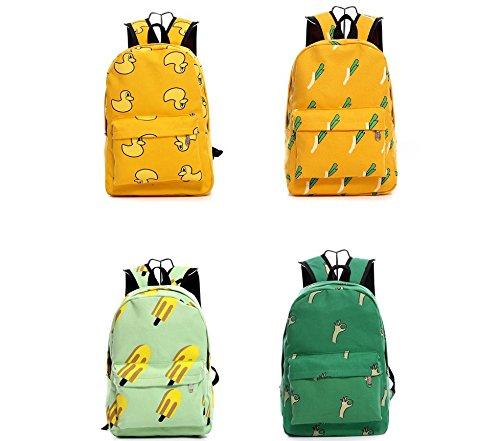 Kotiger portabilità sport all' aperto zaino a spalla per escursionismo e campeggio zaino, Banana OK Gestures