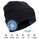 Bluetooth Beanie Mütze mit Stereo Lautsprechern Unisex Musik Strick-Mütze Bluetooth