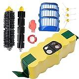 Batterie de remplacement Ni-MH 3000mAh pour iRobot Roomba + Kit de brosse pour iRobot Roomba 600 Series- de Horleora