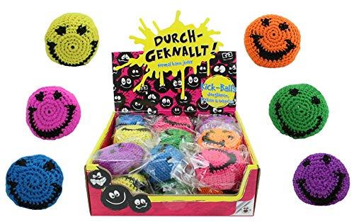 KSS 6 X Hacky Sack Footbag Kick Ball Haky Sack Jonglierbälle Häkelball , für Kindergeburtstag , Tombola , Mitgebsel , Mitbringsel , Verlosung