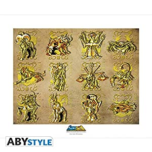 ABYstyle Abysse Corp_ABYART005 Saint Seiya - Colector artprint Gold Clothes (50 x 40)
