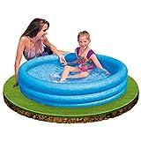 Intex Kinderpool 3-Ring-Pool Crystal 59416NP, Blau, Ø 114 x 25 cm