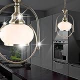 Mia Light antico lampadario rustico/rustico/Golden/vetro/ottone/pendolo proiettore