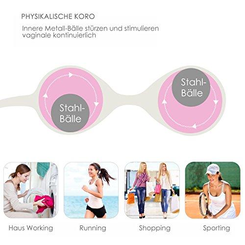 Louviva Liebeskugeln, Liebeskugeln Anfänger für Frauen Beckenboden - Medizinisches Silikon - Kegel Übung Bälle - Für die Blasenkontrolle und Beckenbodenübungen (Loveryoyo) - 5