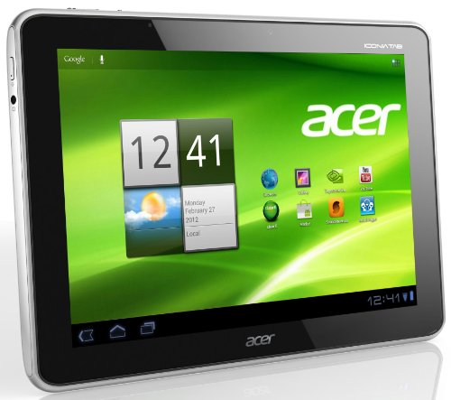 Acer Iconia A511 25,7 cm (10,1 Zoll) Tablet-PC (Nvidia Tegra 3, 1,3GHz, 1GB RAM, 32GB eMMC, Android 4,0, UMTS) schwarz (Nvidia 3 Tegra)