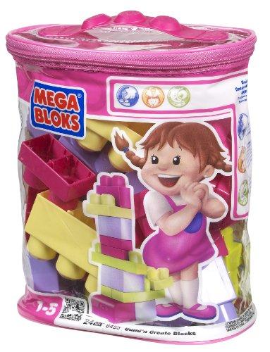 Mega bloks maxi sacca mini rosa 24 cubi (8455)