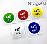 #3: NFC House Ntag203 NFC Tag Sticker printed 30 mm Round (Set of 5)