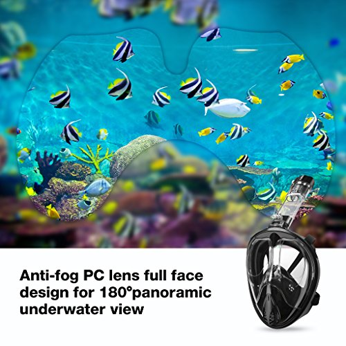 Zoom IMG-2 enkeeo maschera da snorkeling subacquea