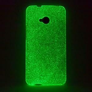 youcase - Day'n'Night Case HTC ONE M7 Glow Cover Schutz Hülle Grün Gel Silikon TPU Grün